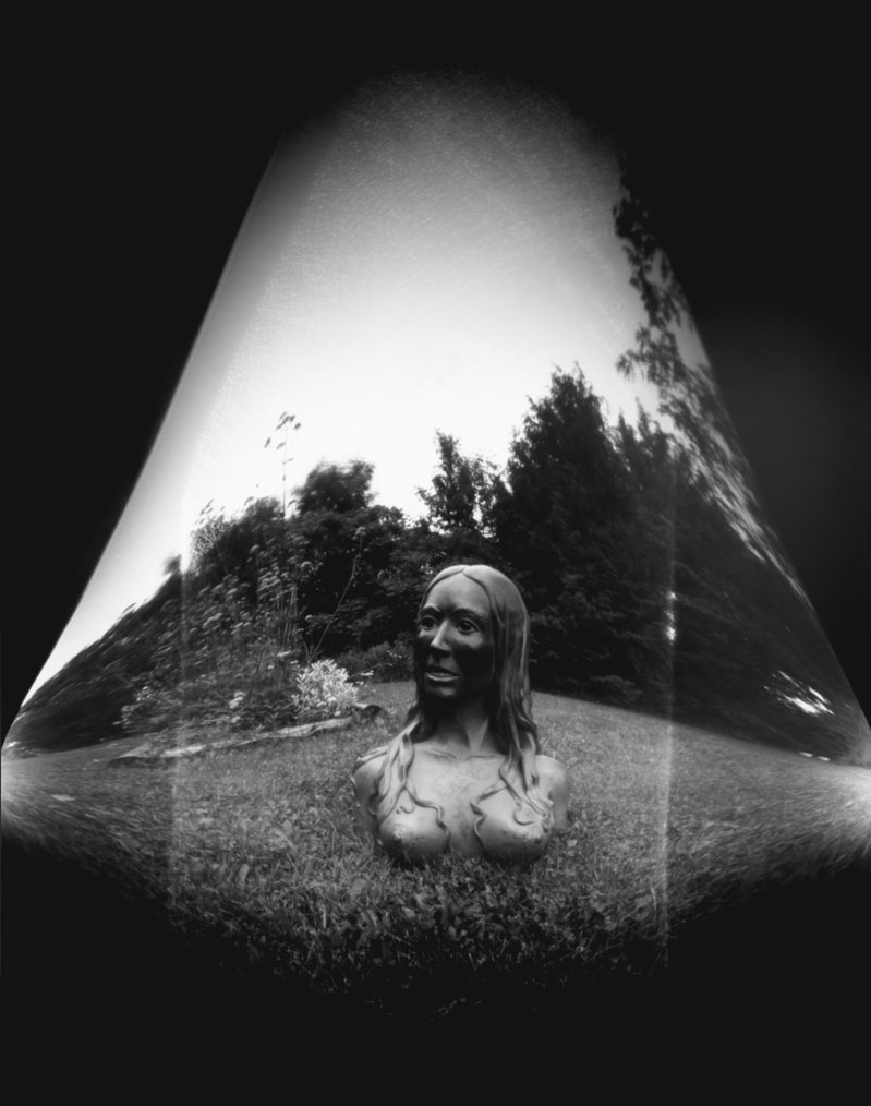 'Divina', 5x7 paper negative shot by Christiansen with the 'Tubocam'.
